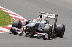 Sergio Perez Sauber Στοκ εικόνα με δικαίωμα ελεύθερης χρήσης