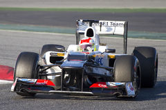 Sergio Perez of Sauber F1 Stock Photo