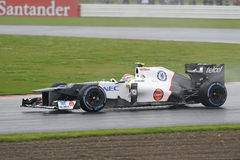 Sergio perez, sauber F1 Stock Image
