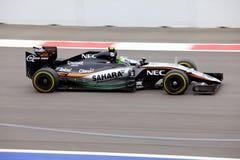 Sergio Perez von Sahara Force India Formel 1 Sochi Russland Lizenzfreie Stockfotografie