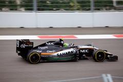 Sergio Perez von Sahara Force India Formel 1 Sochi Russland Stockfoto