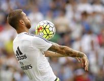 Sergio Ramos di Real Madrid Fotografie Stock