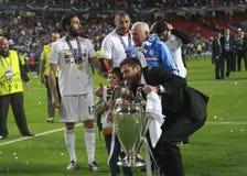 Sergio Ramos Final  Champion League 2014 Stock Images