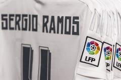 Sergio Ramos-T-Shirt lizenzfreie stockfotos