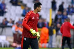 Sergio Romero Champion League FC Bruges - Manchester United Royalty Free Stock Photo