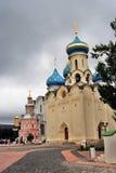 三位一体Sergius拉夫拉在俄罗斯 教会圣灵 免版税图库摄影