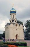 三位一体Sergius拉夫拉在俄罗斯 教会圣灵 库存图片