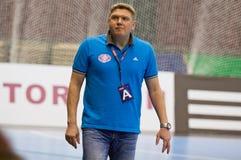 Sergiy Bebeshko - head coach of Motor handball team Stock Photos