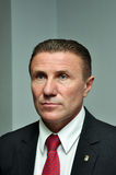 Sergiy Bubka. At a press conference on the announcement of participants who will represent Ukraine at the first Youth Olympic Games in Singapore Royalty Free Stock Images