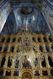Big Panikadilo, Frescoes and Iconostasis of Assumption Cathedral Royalty Free Stock Photo
