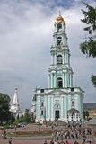 Bell tower in Trinity Sergius Lavra. Russia Royalty Free Stock Image