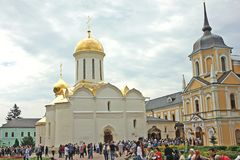 Trinity Cathedral in the Trinity Lavra monastery. Russia Royalty Free Stock Images