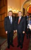 Serhii Bubka et Jacques Rogge Image stock
