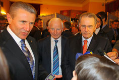 Serhii Bubka and Jacques Rogge Stock Photo
