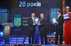 Serhiy Bubka and Jacques Rogge Royalty Free Stock Image