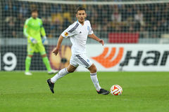 Serhiy Rybalka runs with ball, UEFA Europa League Round of 16 second leg match between Dynamo and Everton Royalty Free Stock Photography