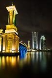 Seri Gemilang Brücke, Putrajaya Stockbild