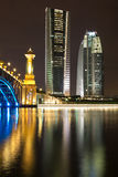 Seri Gemilang Brücke, Putrajaya Lizenzfreies Stockbild