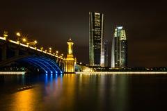 Seri Gemilang Brücke, Putrajaya Lizenzfreie Stockbilder