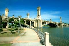 Seri Gemilang Bridge imagens de stock