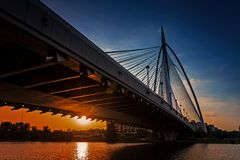 Putrajaya Bridge at Dawn Stock Image