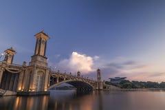 Seri Gemilang Bridge Putra Jaya fotografia de stock