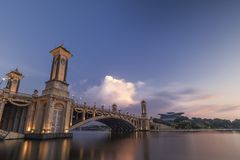 Seri Gemilang Bridge Putra Jaya fotografia stock