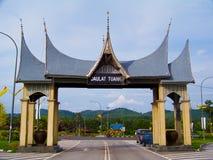 Seri Menanti Kuala Pilah. Road to Seri Menanti Kuala Pilah is place where King of Negeri Sembilan Yamtuan Negeri Sembilan Royalty Free Stock Photo