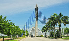 Seri Perdana Bridge in Putrajaya Royalty Free Stock Images