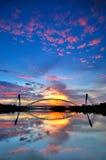 Seri saujana bridge and its reflection Stock Images
