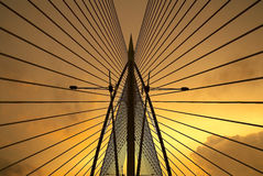 Seri Saujana Bridge in Putrajaya, Malaysia Stockbild