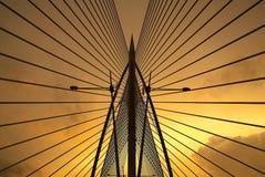Seri Saujana Bridge in Putrajaya, Malaysia. Seri Saujana Bridge at night in Putrajaya, Malaysia Stock Image