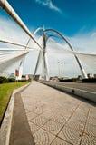 Seri Wawasan Bridge. View of a unique bridge in Putrajaya Stock Photo