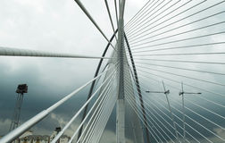 Seri Wawasan Bridge de Putrajaya, Malásia Foto de Stock Royalty Free