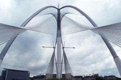 Seri Wawasan Bridge di Putrajaya, Malesia Fotografie Stock Libere da Diritti