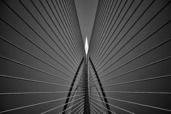 Seri Wawasan Bridge i svartvitt Arkivfoto