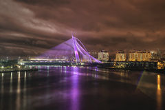 Seri Wawasan Bridge at Night Royalty Free Stock Photos