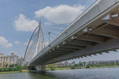 Seri Wawasan Bridge is one of the main bridges in Putrajaya, Malaysia. Royalty Free Stock Photos