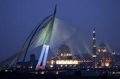 Seri Wawasan Bridge, Putra Mosque & Perdana Putra. Stock Image