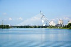 Seri Wawasan Bridge, Putrajaya, Malaysia Royalty Free Stock Image