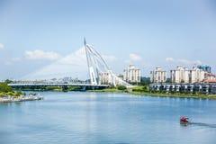 Seri Wawasan Bridge, Putrajaya, Malaysia Royalty Free Stock Photography