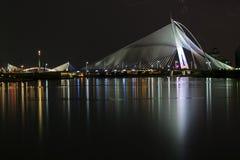 Seri Wawasan Bridge @ Signature Bridge. Seri Wawasan Bridge at rainy night, PutraJaya, Malaysia Stock Image