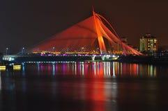 Seri wawasan brug bij putrajaya Maleisië Stock Afbeeldingen
