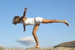 Seria de la yoga: Chair llamada Pose Fotografía de archivo
