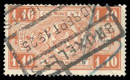 Seria kolei znaczek zdjęcia stock