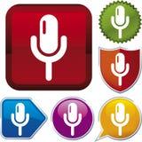 seria wektorowe ikona mikrofonu Obrazy Royalty Free