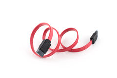 Serial ATA Cable On White Background Stock Images