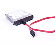 Serial ATA hard drive isolated Stock Images