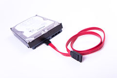 Serial ATA hard drive isolated Royalty Free Stock Photography