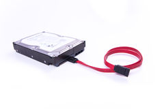 Serial ATA hard drive isolated Royalty Free Stock Images